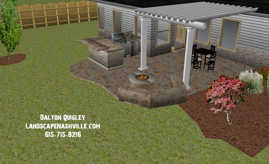 Landscape design images from past nashville clients for Garden design nashville tn